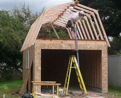 exterior gambrel roof shed plans free and gambrel roofing mansard roof frame attached images