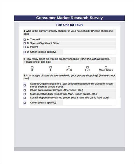 Market Research Survey - 29 survey form templates