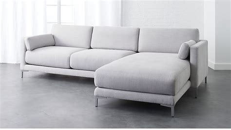 cb2 sectional cb2 sectional sofa decker 2 piece large grey sectional