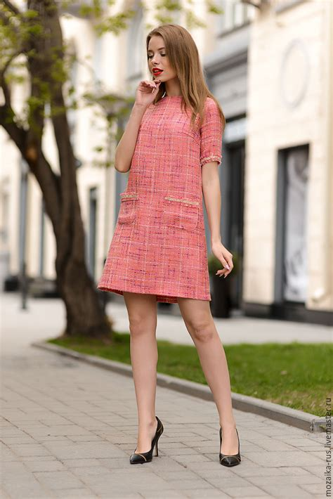 Chanel Garment Shofjeans 27 30 dress in chanel style the color coral shop on livemaster with shipping ckktvcom