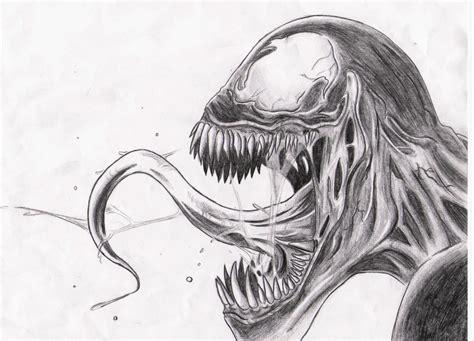 Drawing Venom by Cool Venom Drawings Www Imgkid The Image Kid Has It