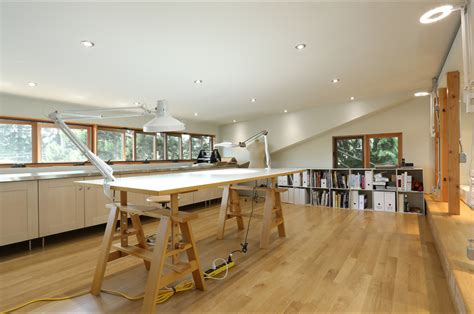 art studio floor ls art studio home office contemporary with custom windows