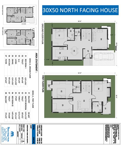 vastu floor plans north facing x home plans design and planning of houses 30x50 site