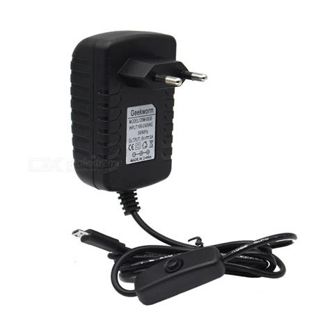 Power Supply Raspberry Pi 5v 3a geekworm dc 5v 3a power adapter with switch for raspberry pi eu free shipping dealextreme