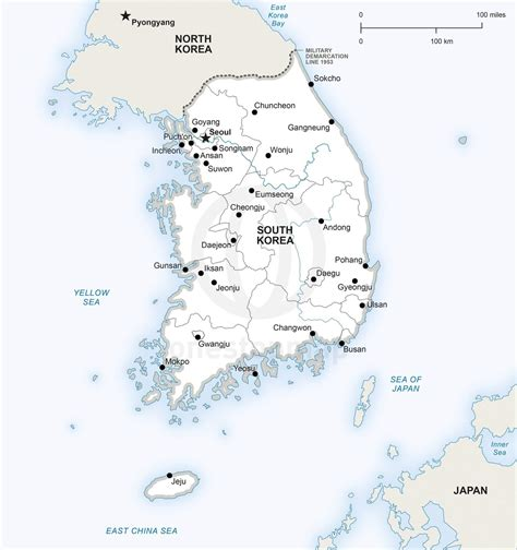 map of south korea vector map of south korea political one stop map
