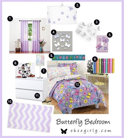 girly accessories for bedroom butterfly bedroom accessories oh so girly