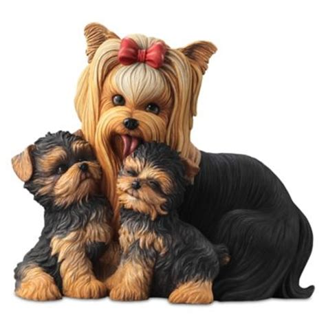 yorkie items quot yorkie kisses quot and puppies lifelike sculpture at beautiful items