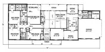 One Story House Plans With 4 Bedrooms Bedroom Single Floor House Plans Kerala Style Escortsea