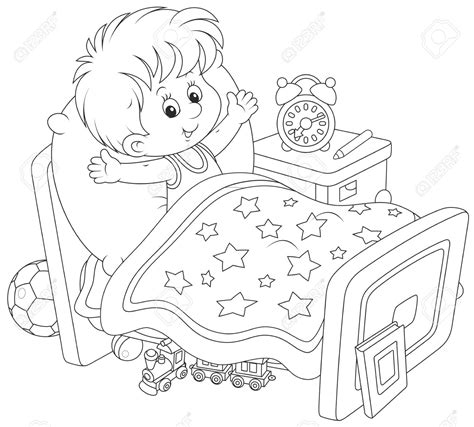 coloring page wake up wake up clipart black and white 2 clipart station