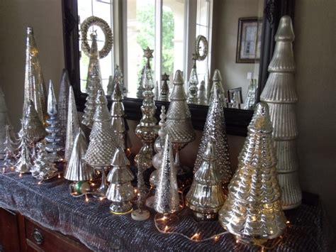 mercury glass christmas trees trees topiary home