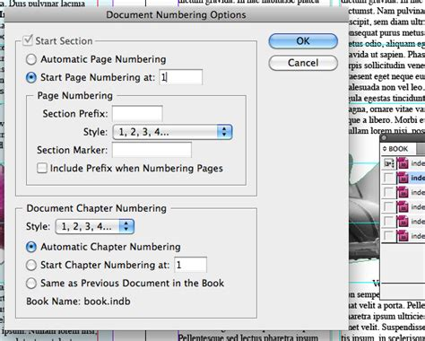 indesign creating page numbers getting to grips with indesign part 7 working with book