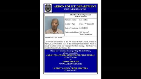 The Newest Akron Homicides Youtube 2016 | akron police unsolved homicides youtube