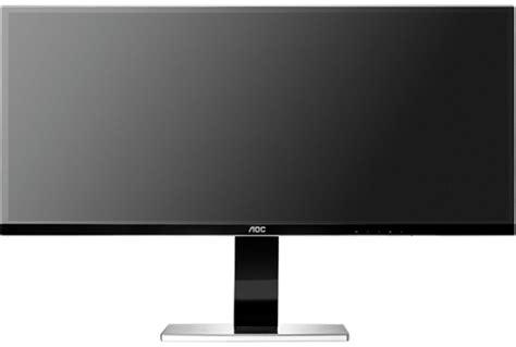 monitor senza cornice aoc u3477pqu monitor ips panoramico da 34 pollici e