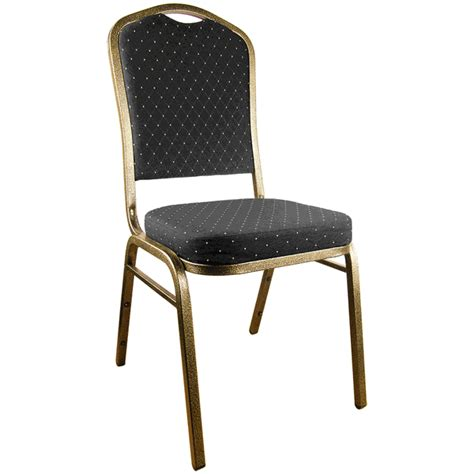 black patterned crown back banquet chair goldvein frame