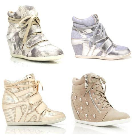 Sepatu Kets wedges sneakers sepatu kets sepatu tinggi ujung tumpul dan forever 21