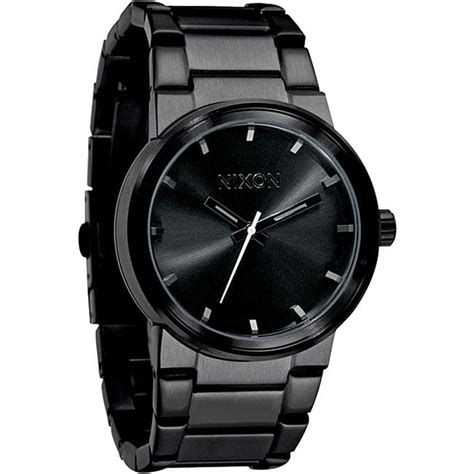 nixon s a160 001 cannon all black stainless steel