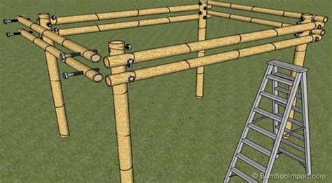 how to build pergolas how to build a bamboo pergola