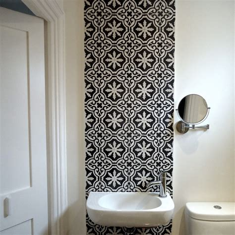 monochrome bathroom ideas objects of design fired earth tiles