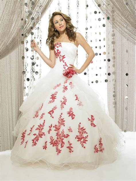 imagenes de vestidos de novia rojo con blanco vestidos de novia en blanco y rojo mujer y estilo