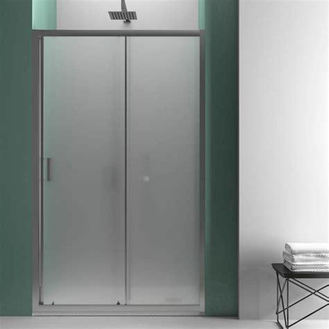 porta cristallo doccia porta doccia per nicchia 120 cm apertura scorrevole in
