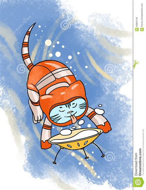 Vector Cat In Space space cat in space suit royalty free stock image