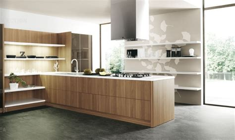 Kitchen Units Designs by Wood Slab Modern Kitchen Units Interior Design Ideas