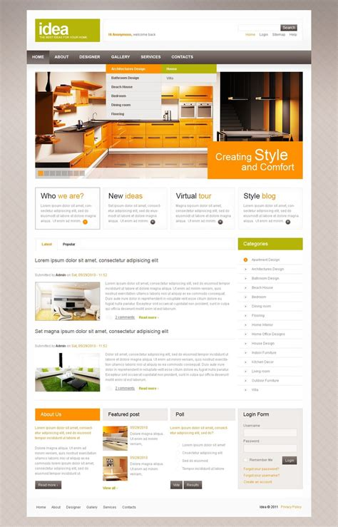 interior design drupal template 36147