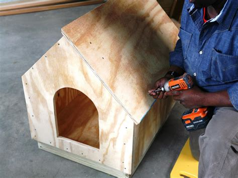 roofing a dog house how to build a simple gabled roof doghouse how tos diy