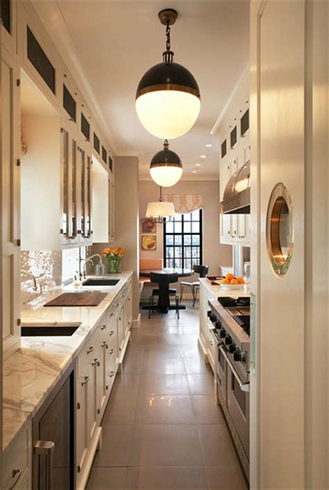 galley kitchen lighting ideas 22 stylish long narrow kitchen ideas godfather style
