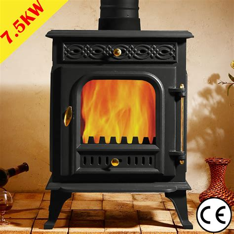 Efficient Wood Burning Stove 5kw Multifuel Stove Cast Iron Log Woodburner High