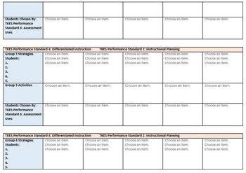 tkes lesson plan template kindergarten ela math lesson plan gse standards of
