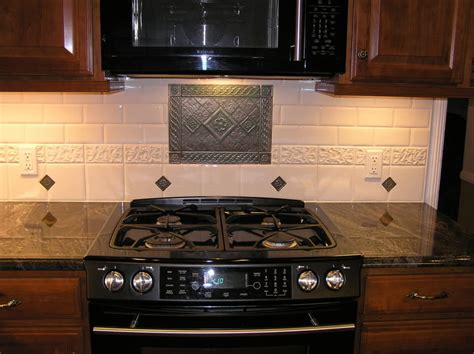 stove tile backsplash kitchen backsplash stove medallion show me your subway tile backsplashes kitchens