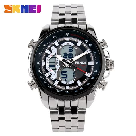 Jam Tangan Waterproof 5atm Digitec Sporty Analog Skmei Led Original skmei jam tangan analog digital pria ad0993 black jakartanotebook