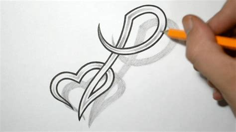 heart letter tattoo designs designing letter p and combined design