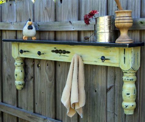 Shelf Of Mustard by Farmhouse Display Shelf Towel Bar Coat Rack Up Cycled