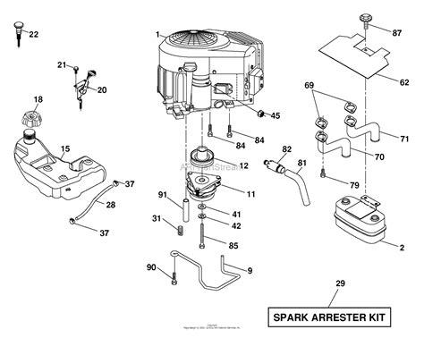 husqvarna logth      parts diagram  engine
