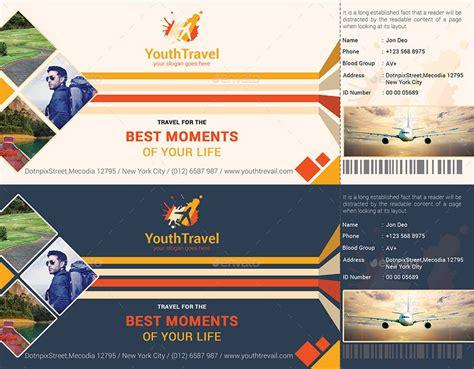 8 Travel Ticket Designs Design Trends Premium Psd Vector Downloads Travel Ticket Template