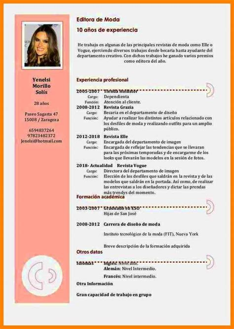 De Cv by Curriculum Vitae Formato Modelo De Curriculum Vitae