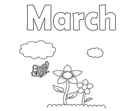 march coloring pages free printable march coloring pages for