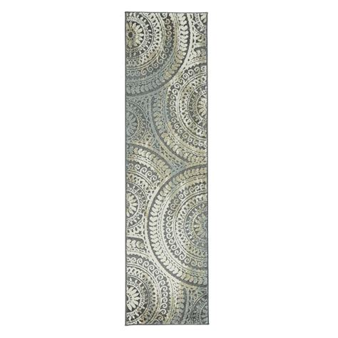 home decorators collection spiral ii home decorators collection spiral medallion grey 2 ft x 7