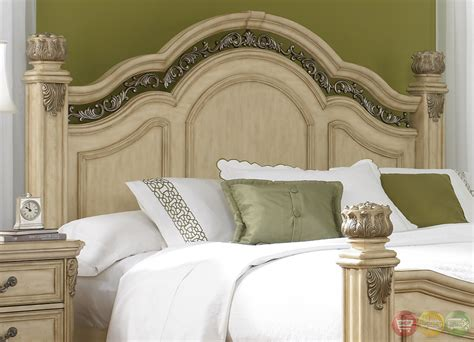 messina estates traditional european style poster bedroom set messina estates ii whitewash finish poster bedroom set