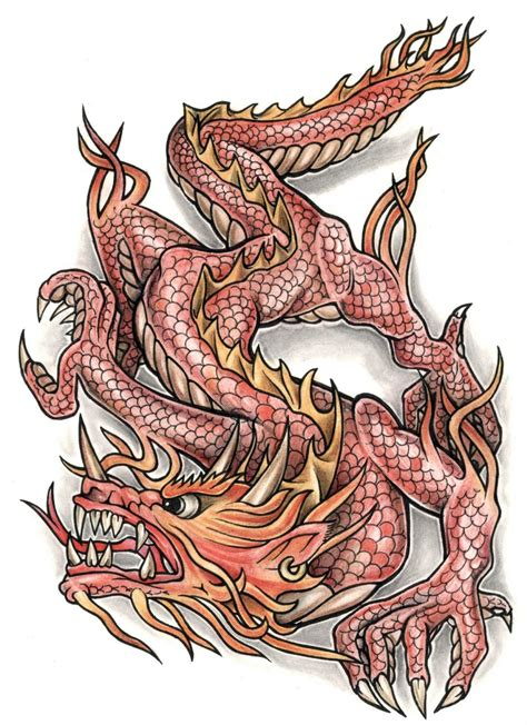 coloured dragon tattoo designs black think picture