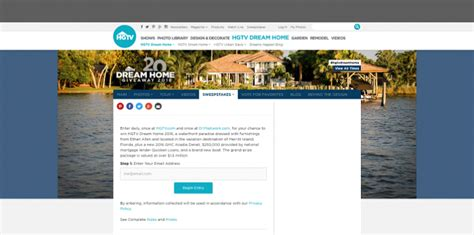 Enter Hgtv Dream Home Sweepstakes - hgtv dream home 2016 sweepstakes autos post