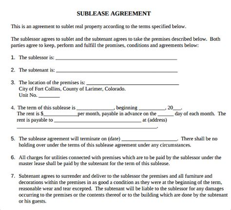 Lease Agreement Template Alberta printable lease agreement 13 documents for