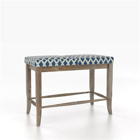 upholstered bench seat canadel ben89025td 24 chlain upholstered seat bench