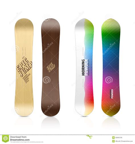 snowboard design template snowboard design royalty free stock image image 35942156