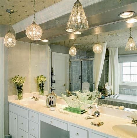 Creative Ideas For Decorating A Bathroom Unique Bathroom Vanity Design With Pendant Lighting