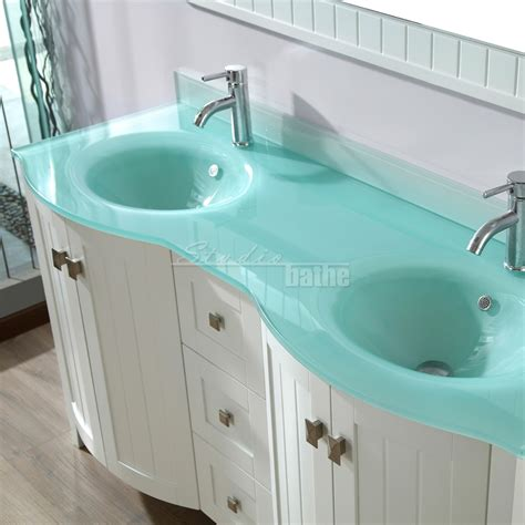 glass top vanities bathrooms bridgeport 60 inch white modern bathroom vanity mint green