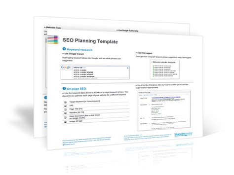 19 3dicon Seo Png Seo Plan Template