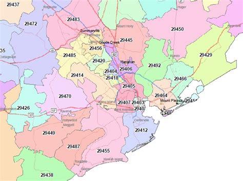 Zip Code Map Charleston Sc   search charleston home listings by zip code